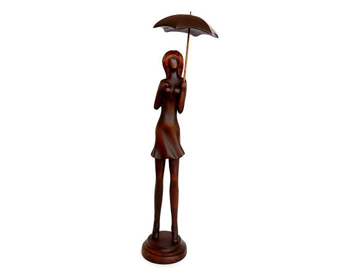 Wood sculpture Admiration boho home decor wood carving Valentine's gift idea – alm ared
