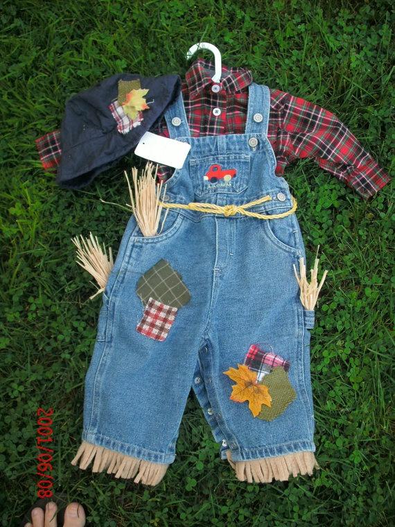 Toddler Boy 3t Handmade Halloween Scarecrow Costume Denim