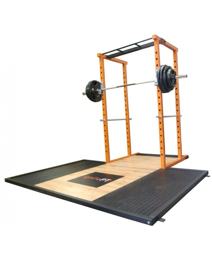 Watson power rack with olympic lifting platform from gym