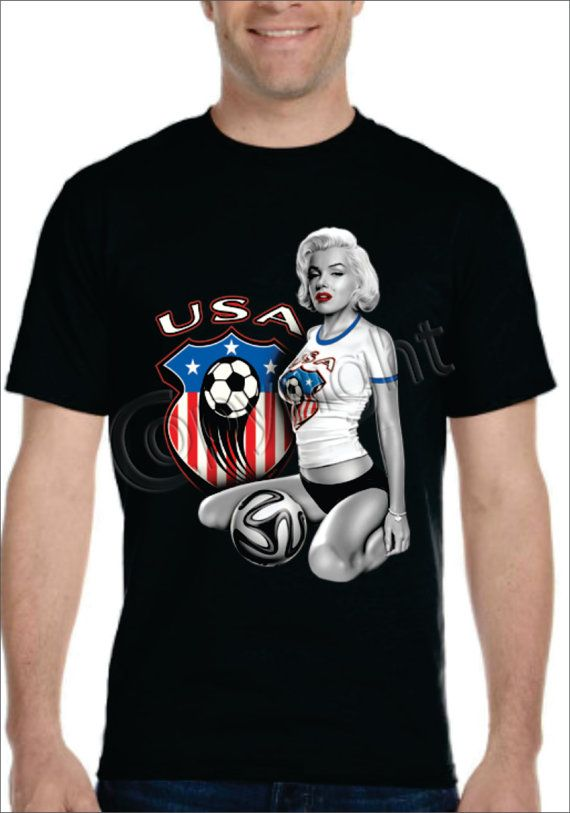 Sexy Monroe USA World Cup Tshirt Men's Women's by UNIDESIGNS, $19.99