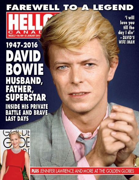 David Bowie - Hello! Magazine Cover [Canada] (25 January 2016)