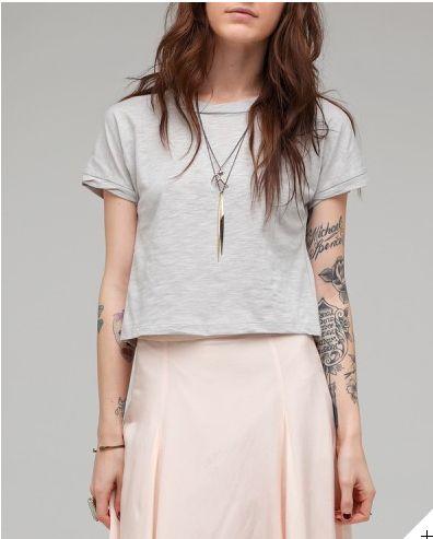 ideia pra blusa cinza e preta