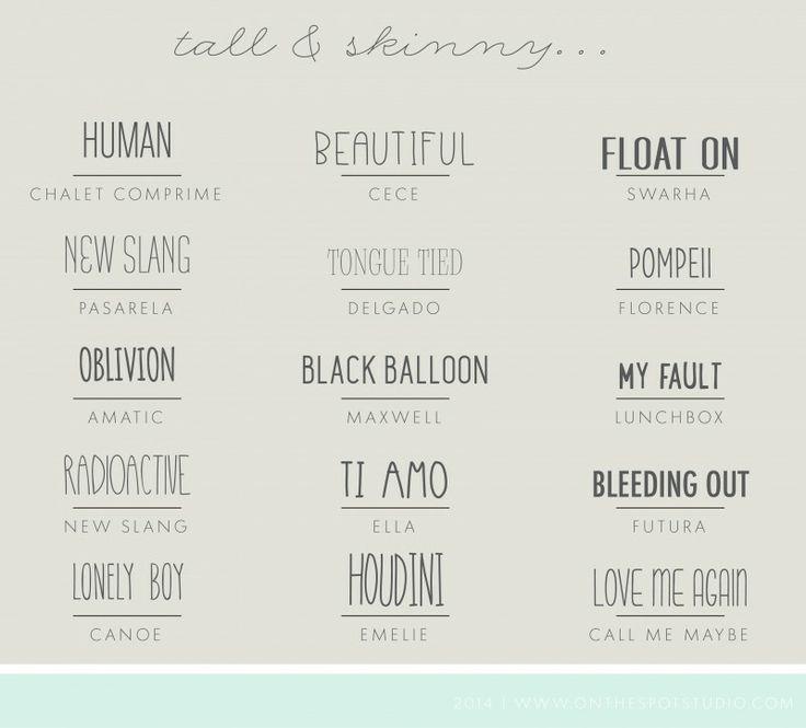 Tall & Skinny Font...