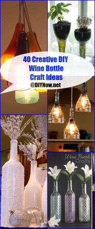 40 creative diy wine bottle craft ideas diy crafts 1 for Diy wine bottle crafts pinterest