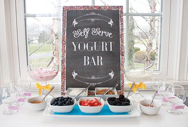 Yogurt bar idea?