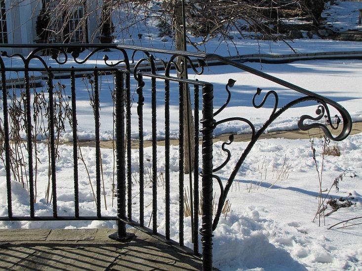 Gibson - patio railing #forged #iron #handrail - mark puigmarti