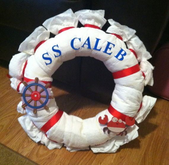 Ahoy It's A Boy Baby Shower Wreath by TheJoyfulBoutique on Etsy, $25.00