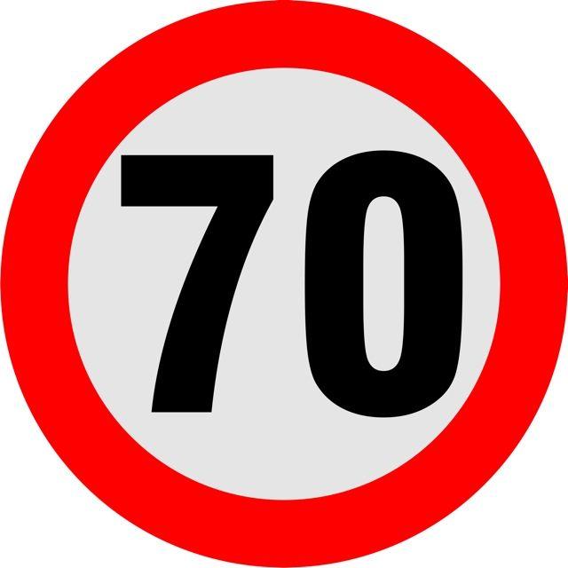 Naklejka Ogranicznik prędkości 70 km