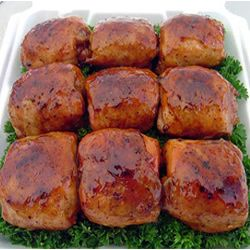 Smoked BBQ Chicken thighs... my mouth is watering just looking at the picture