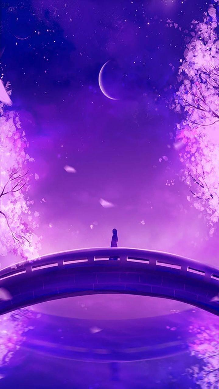 Purple Wallpaper Purple Wallpaper Hd Anime Backgrounds Wallpapers Purple Wallpaper Fantasy anime moon wallpaper