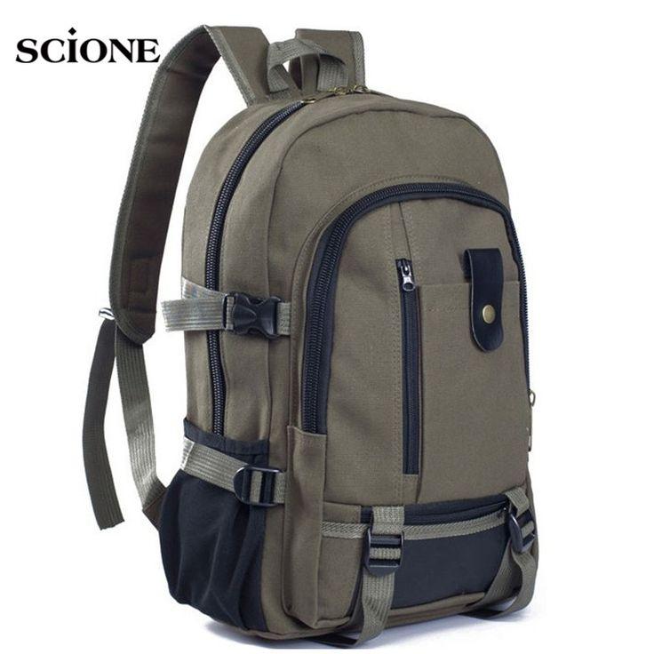 2017 Urban Men's Laptop Rucksack Large Capacity Canvas Backpack for Teenage Boys School Bag Mochila Outdoors Travel Bags XA1251A