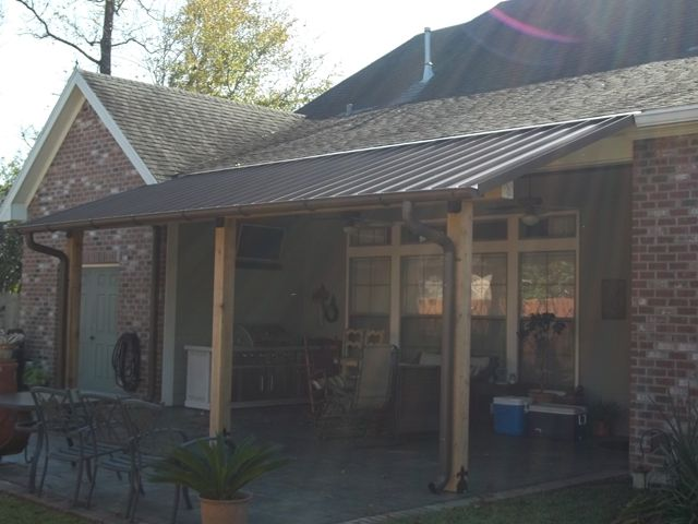 Notice The Slant Of The Roof On The Patio.