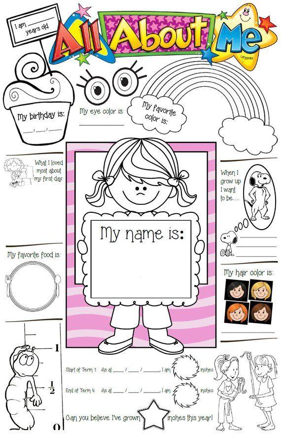 All About Me Girls Template Teacher Resources Prep Kindy Preschool School Kindergarten About Me Template All About Me Preschool All About Me Printable