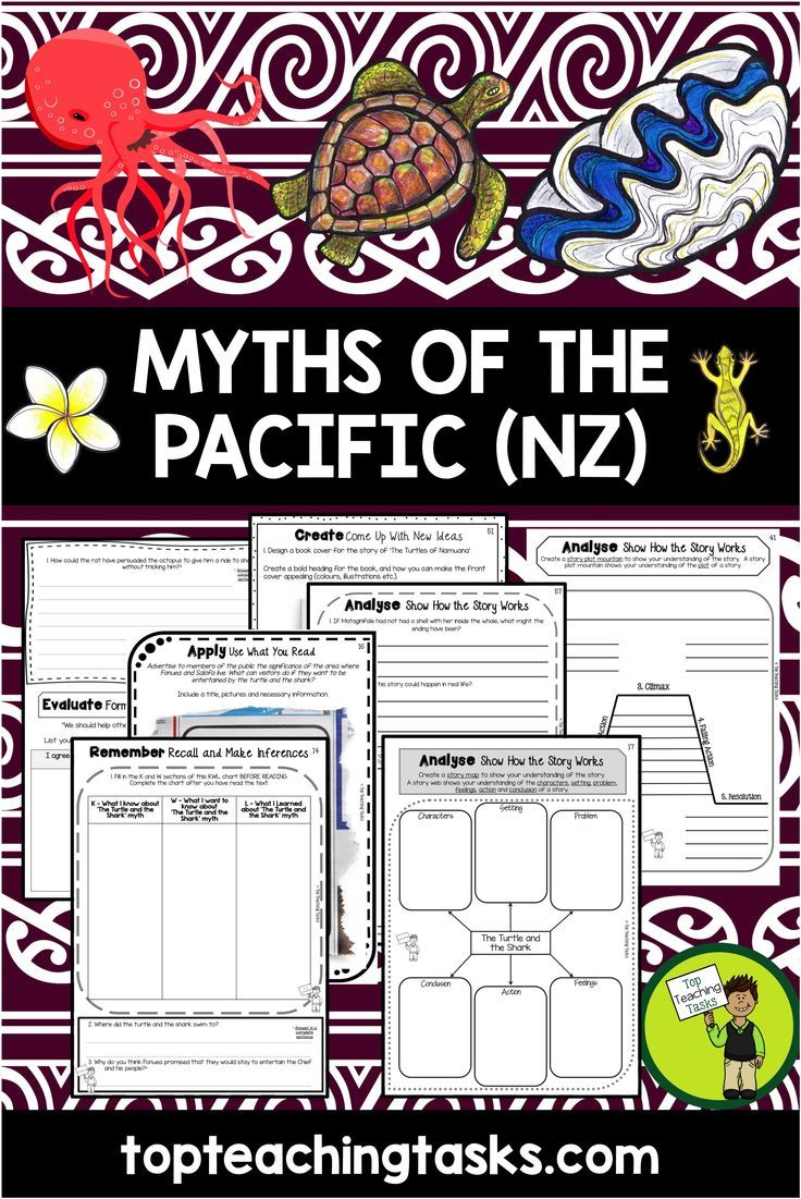 Samoan Language Week. Reading comprehension activities, SEVEN Year Five and Six Literature passages with six engaging text dependent higher order thinking tasks - perfect for reading comprehension! Myths and legends reading activities are from Samoa, Cook Islands, Tonga, Tuvalu, Fiji, Niue and Tokelau! #TraditionalLiterature #MythsandLegends