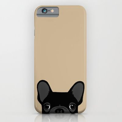 French Bulldog - Black on Tan iPhone & iPod Case by Anne Was Here - $35.00