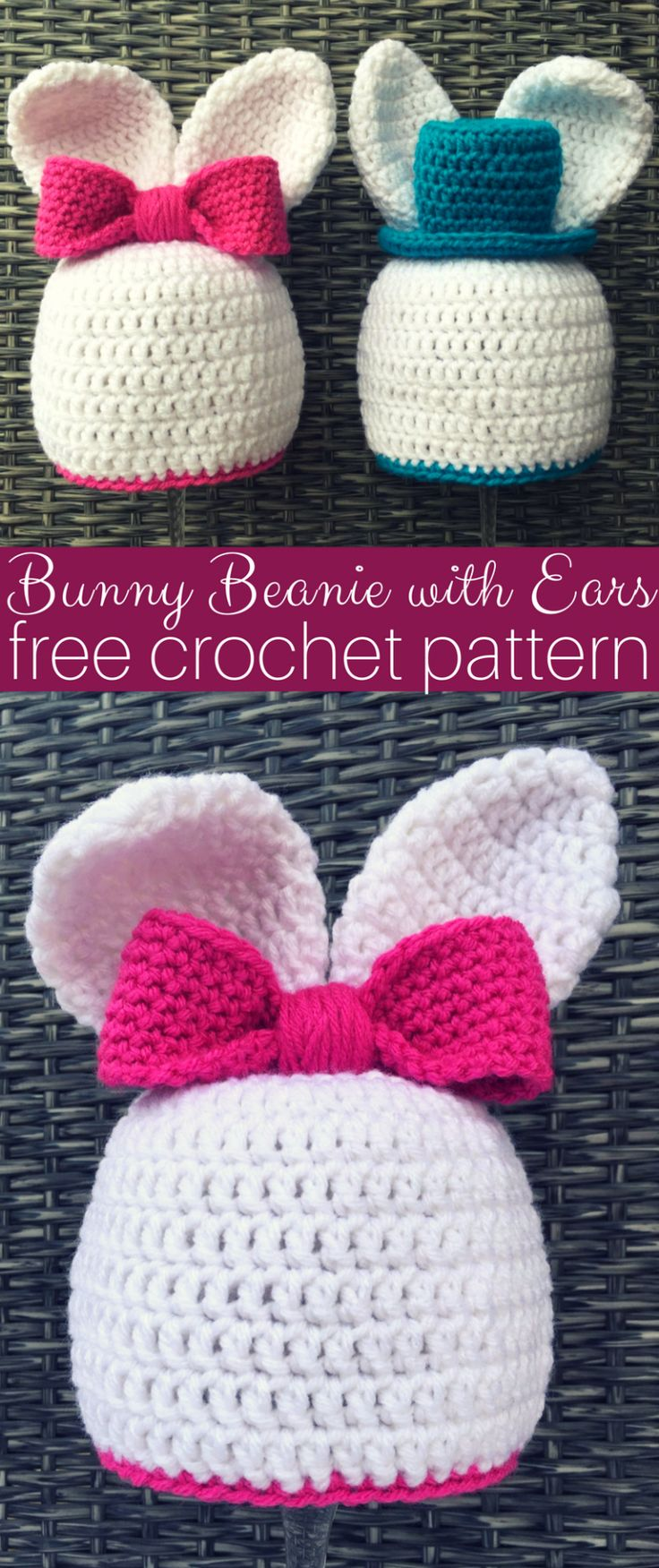 Crochet Bun Hats For Boys and Girls FREE Patterns