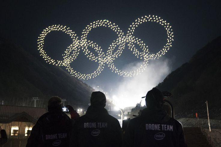 [Vidéo] L'essaim de drones d'Intel illumine le ciel des Jeux olympiques de Pyeongchang
