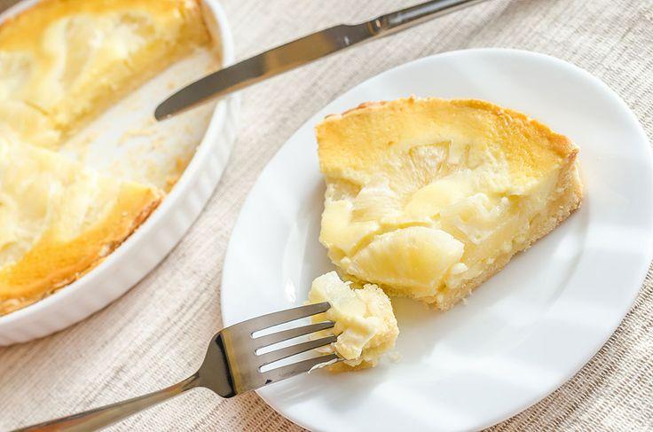 Tropical Pineapple Cheesecake Tart