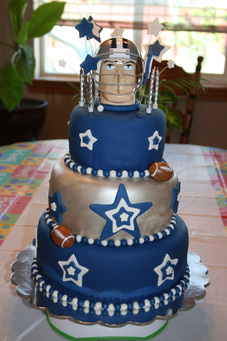 Dallas cowboys birthday cake ideas and designs - Dallas Cowboys Cake For My Love S Birthday