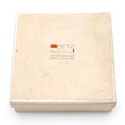 Packaging material Cardboard box and cover with print Metz Co Amsterdam - Den Haag design Bart van der Leck for Metz Co / the Netherlands 1952