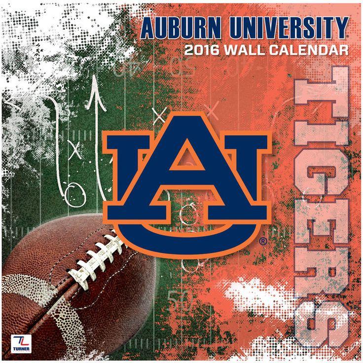 """Auburn Tigers 2016 12"""" x 12"""" Wall Calendar"""