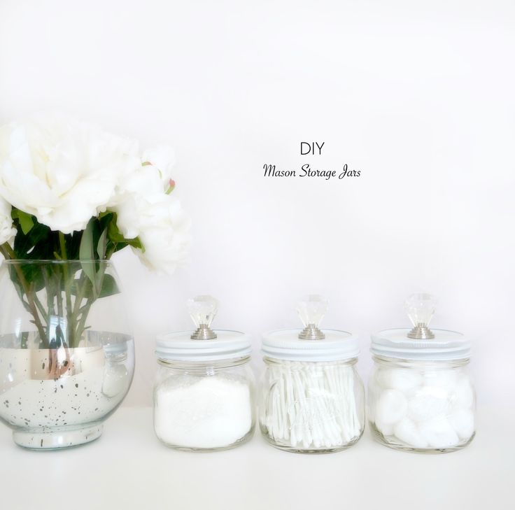 DIY Mason Storage Jars | Haute & Healthy Living