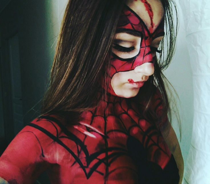 #Spidergirl #Spiderman #Marvel #bodypainting #makeup
