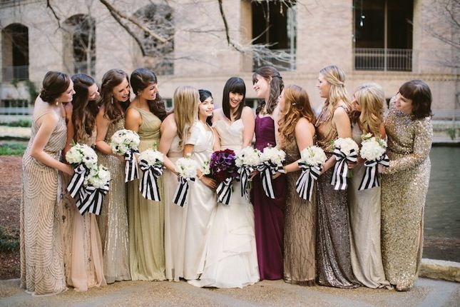 20 Mismatched Bridesmaid Dresses for Your Modern Wedding via Brit + Co.> I've always liked mismatched, but never knew guidelines to pull it off in a classy way. This is perfect!