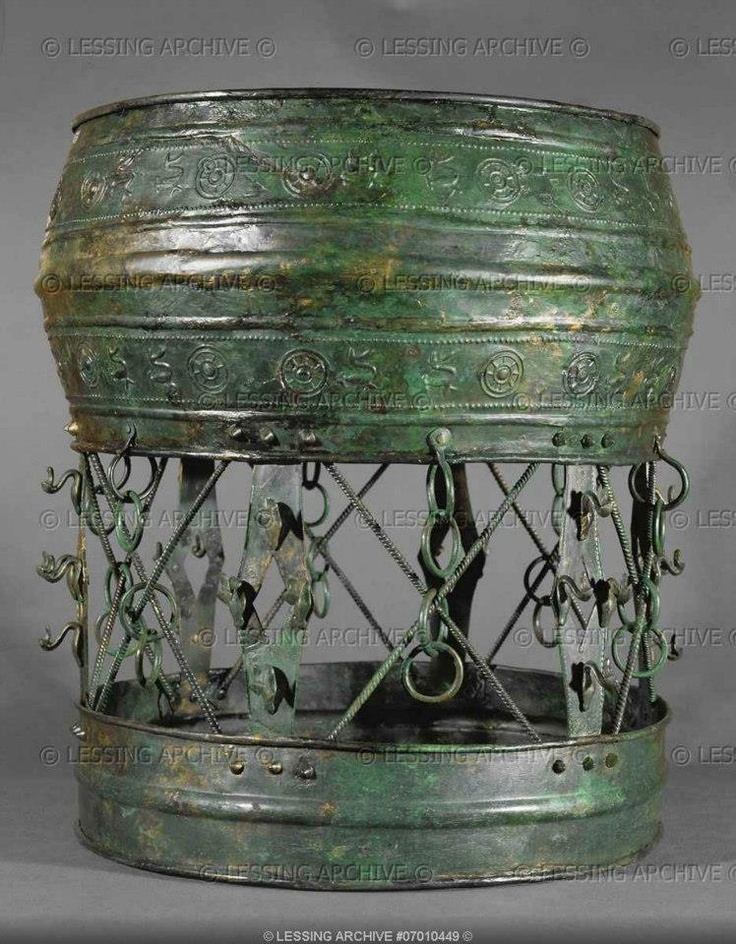 Circular bronze stand for vessels etc. with ornaments, from grave 507, burial si… – Jonny G