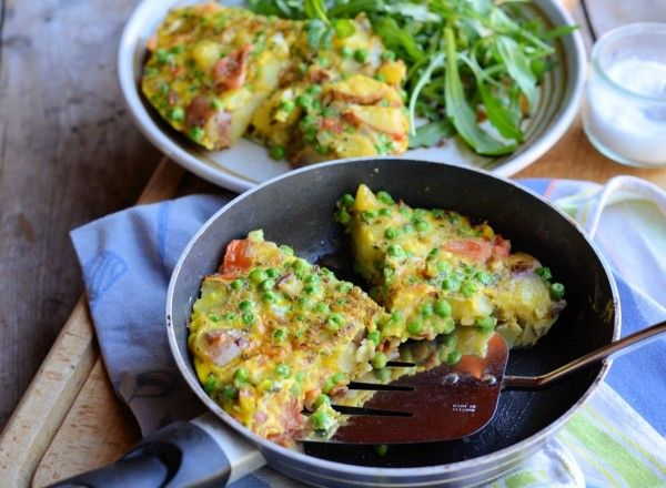 Minted Pea and Vegetable Frittata