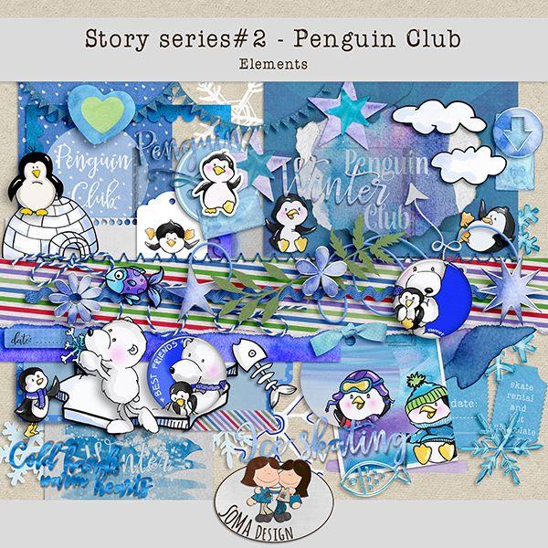 Oscraps.com :: Shop by Category :: All New :: SoMaDesign PenguinClub Kit