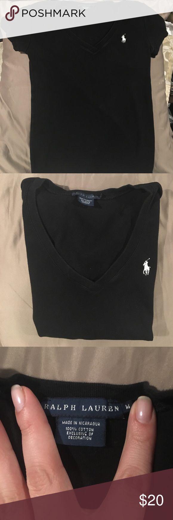 Polo Shirt Black Polo shirt with V cut Ralph Lauren Tops Tees - Short Sleeve