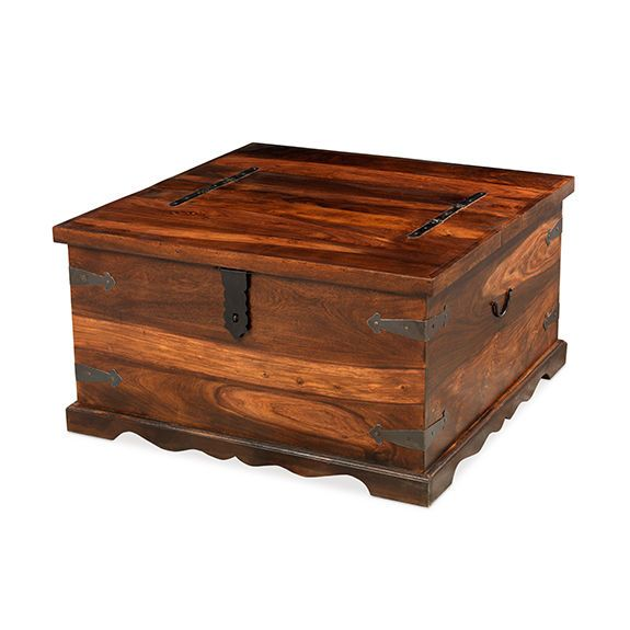 Madras Solid Sheesham Wood Jali Square Blanket Box Storage Trunk Coffee Table This Range Of F Coffee Table Square Coffee Table Trunk Coffee Table With Storage