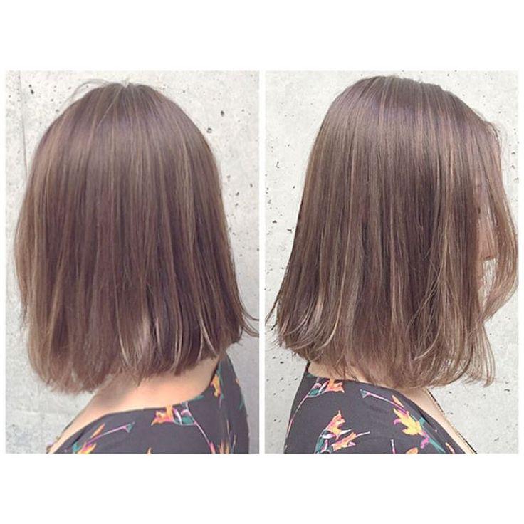 「インスタ見て来てくださったお客様 . 30センチバッサリカット ✂︎ 細めハイライトをたくさん入れて パールアッシュベージュに❤️ . 《内巻きも外ハネもできる切りっぱなしBOB》と《スペシャルハイライト》 相性抜群です✨☝️ . #SHIMA#吉祥寺#nakanishi_hair…」