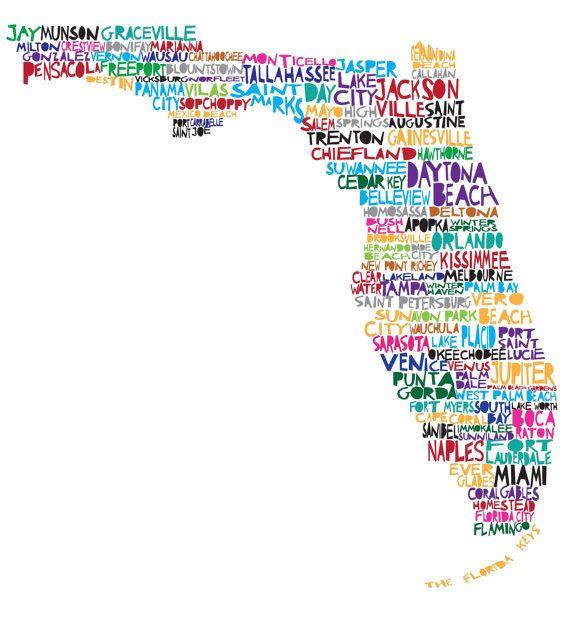 FL: Florida Homes, Florida Southern, Florida Maps, Florida Girls, Florida Digital, Sunshine States, Digital Prints, U.S. States, Digital Illustrations