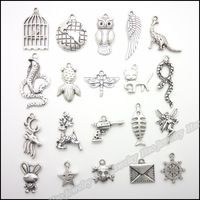 Mezclar 200 unids Encantos de La Vendimia Colgante Tibetano de plata Cupieron Las Pulseras Del Collar de DIY de Metal Fabricación de Joyas