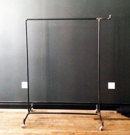 """This industrial clothing rack comes with a 5"""" hook on the end (hook is optional). Great for hanging bags, hats or other accessories. Easy to assemble and disassemble all by hand allowing easy transpor"""