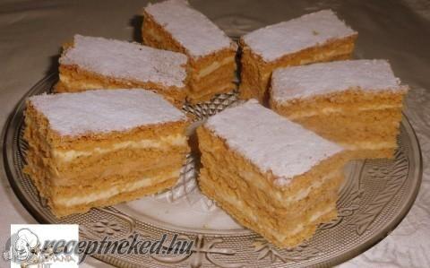 Dupla karamellás-tejszínes szelet recept fotóval