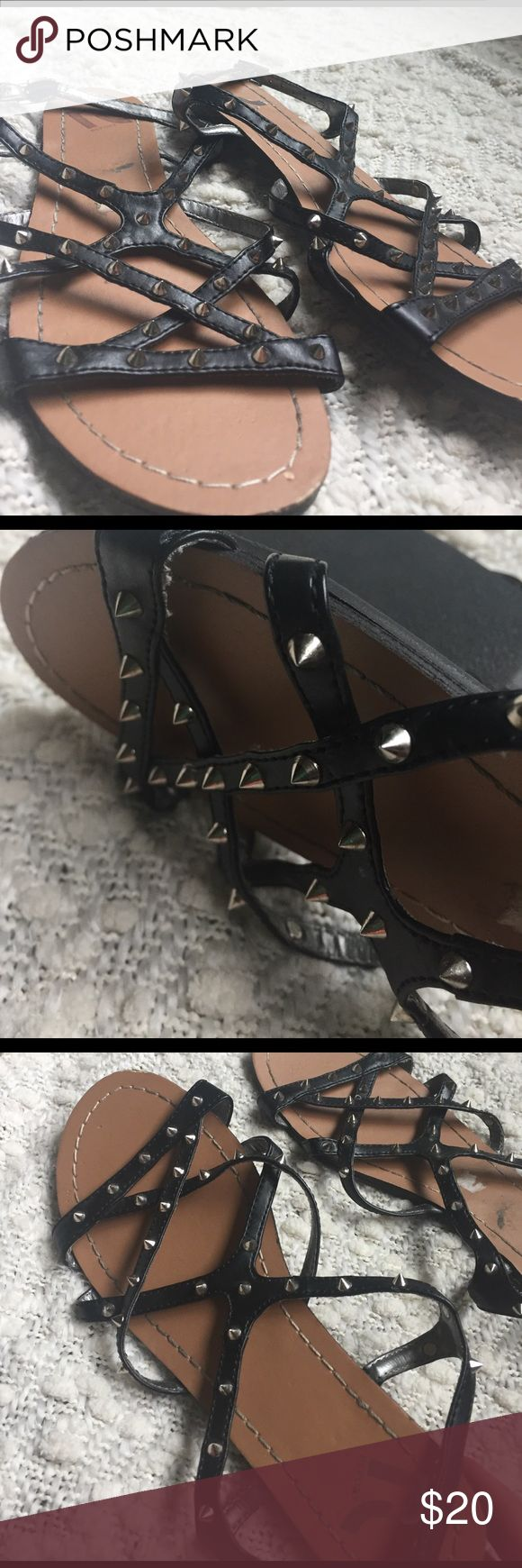 Perfect Condition Report Black Spiked Sandals Spikes are Sharp! Really cute though just not great if you have kids lol Report Shoes Sandals