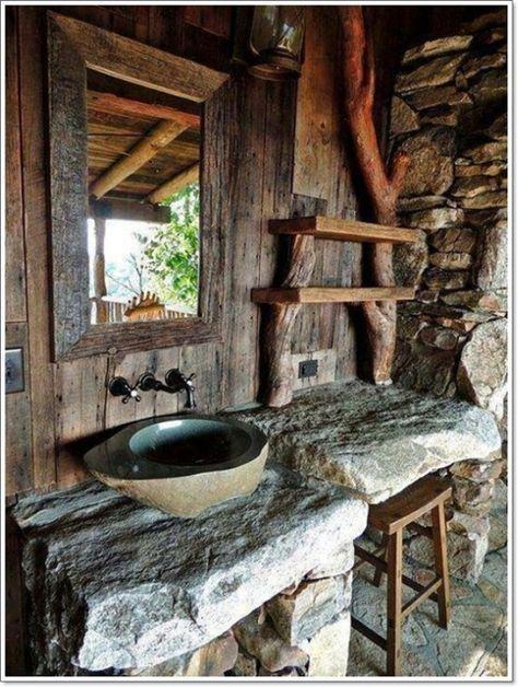 Необычная деревянная ванная комната в рустикальном стиле станет просто…