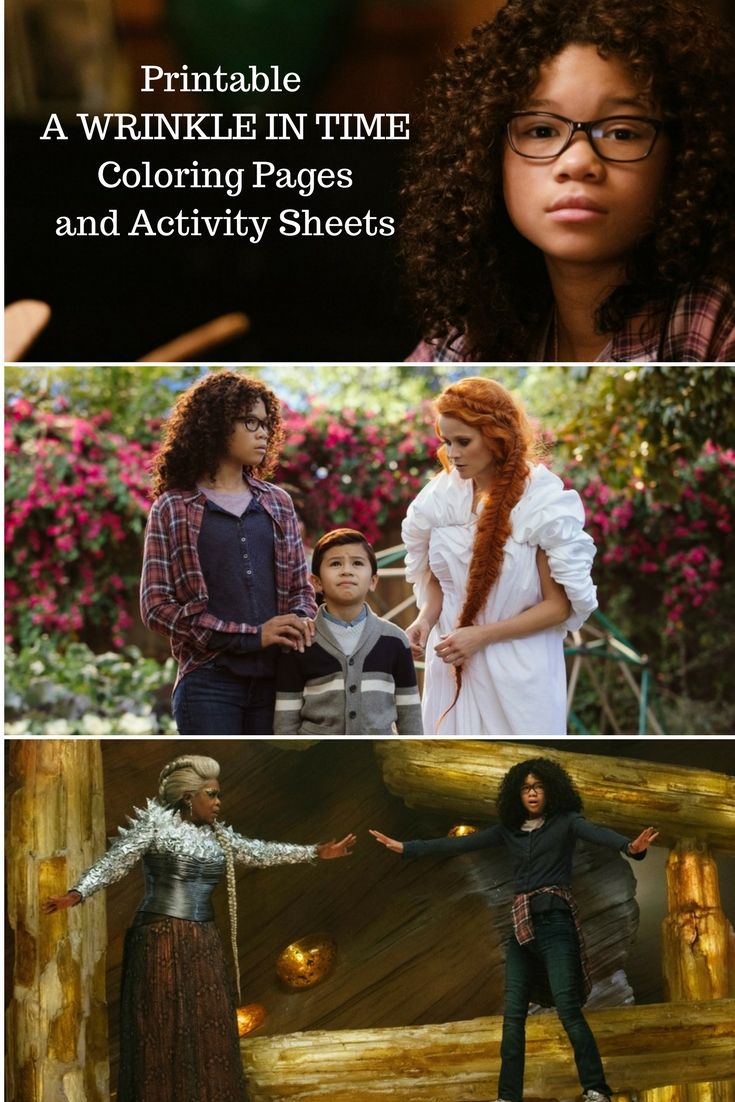 Get Free A Wrinkle in Time Coloring Pages and Activity Sheets #WrinkleInTime - Christy's Cozy Corners #printable #printables #disney