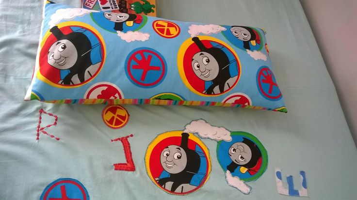 Thomas  bed and pillow covers. Applique .