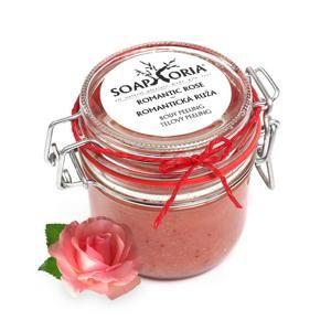 Tělový peeling Romantická růže Soaphoria