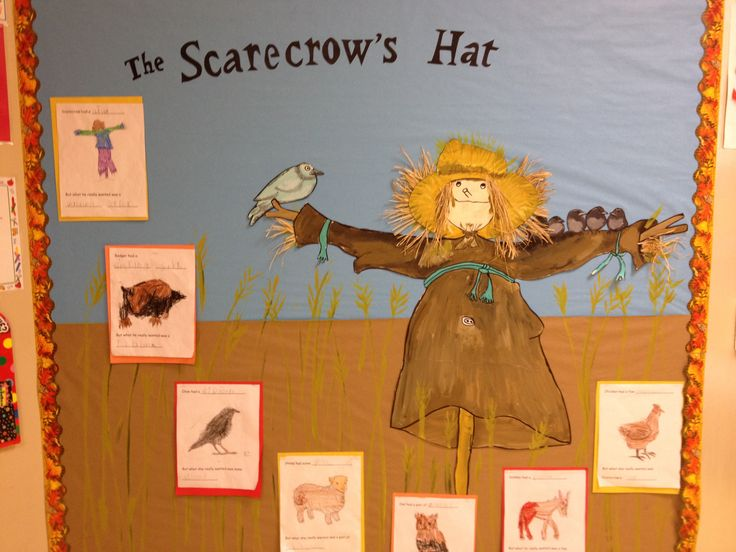 The Scarecrow 39 s Hat story sequencing bulletin board