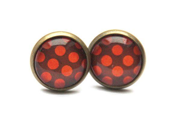 http://de.dawanda.com/product/44231662-glaeserne-ohrstecker-summerdots-orange-braun