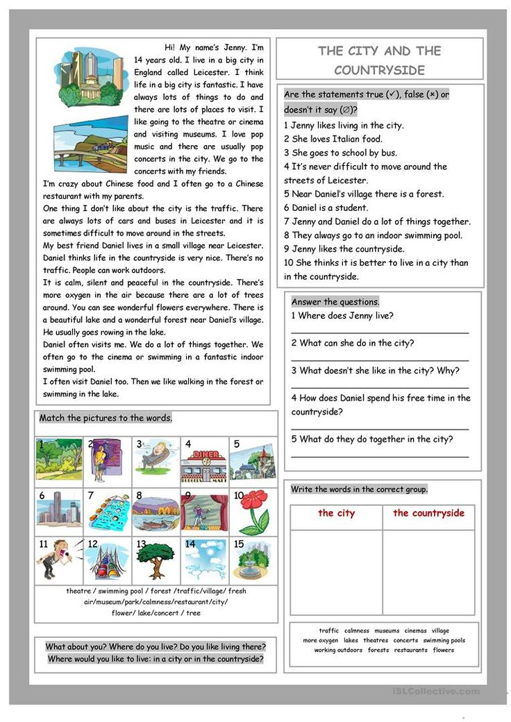 The City and the Countryside worksheet - Free ESL printable worksheets made by teachers