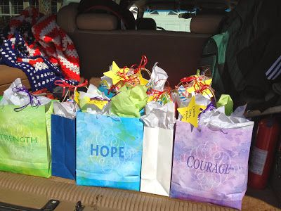 Family At The Foot Of The Cross: American Heritage Girls Make A Difference Day-- Chemo Care Packs