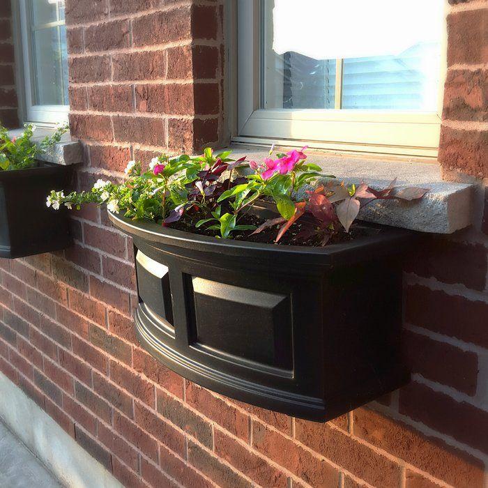 Nantucket Self-Watering Plastic Window Box Planter