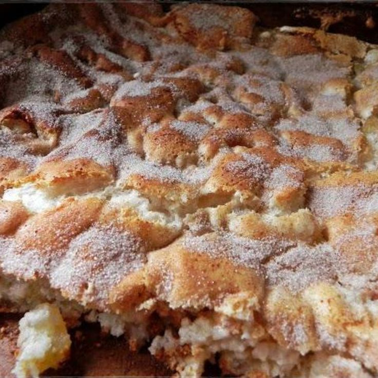 INGREDIENTS: 1 CAN APPLE PIE FILLING 1 BOX ANGEL FOOD CAKE MIX (DRY) SUGAR CINNAMON CARAMEL (OPT)
