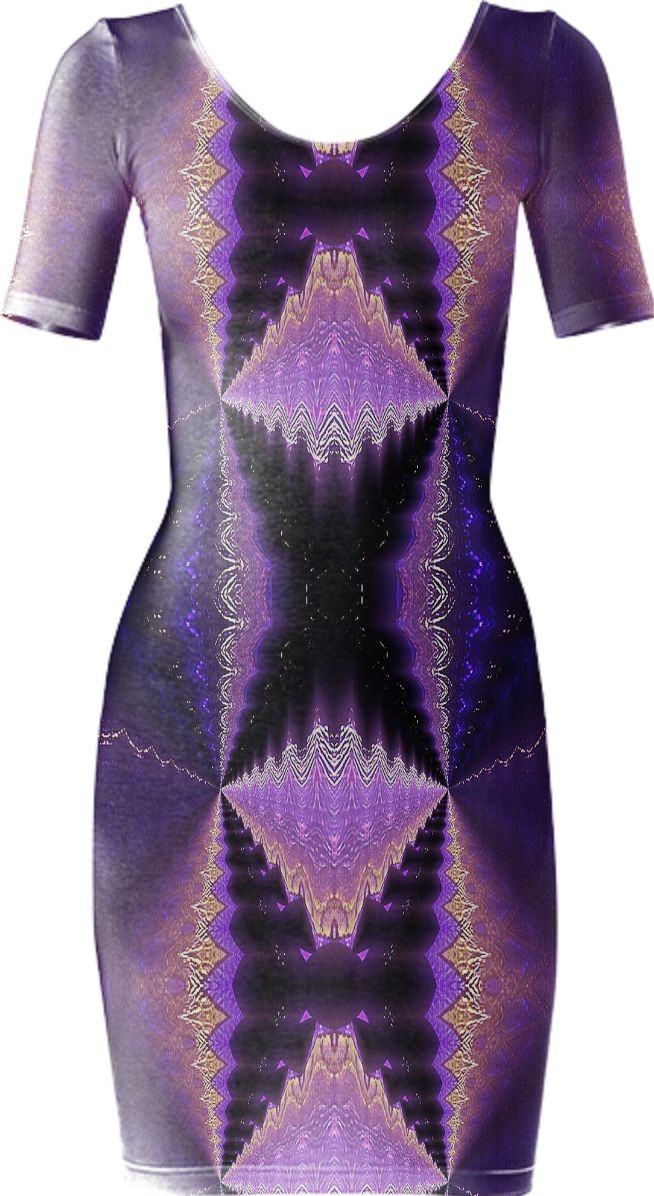 fractal butterfly dressin purple from Print All Over Me